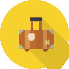 イラスト:スーツケース